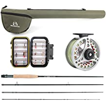 Maxcatch Extreme Fly Fishing Combo Kit 3/5/6/8 weight Fly Rod and Reel Outfit