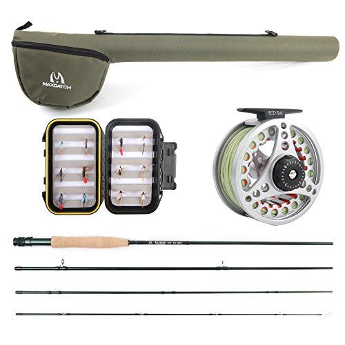 M MAXIMUMCATCH Maxcatch Extreme Fly Fishing Rod Combo Kit 5weight (5wt Rod Combo) (Best Budget Fly Rod Combo)