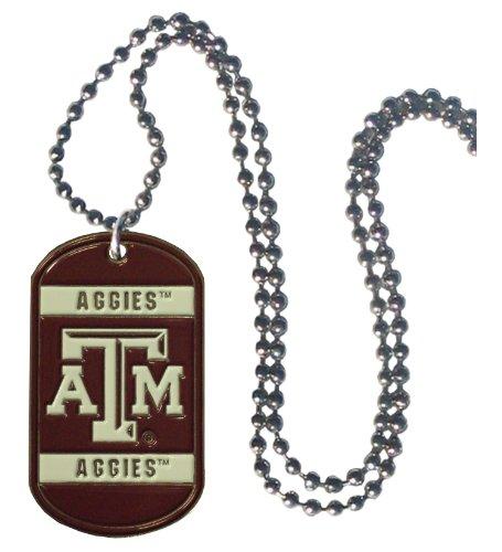 - Simran NCAA Texas A&M Aggies Dog Tag Necklace