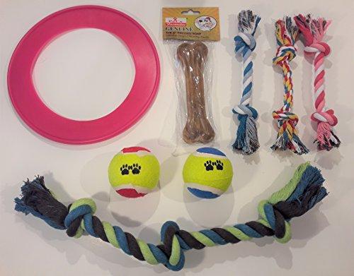 Dog Toy Bundle - Flying Disc, Tennis Balls, 6