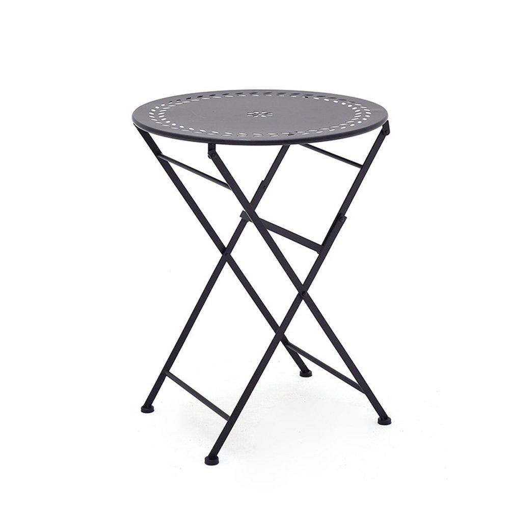 コーヒーテーブル ガーデン屋根、中庭、デスクと椅子の組み合わせ折りたたみアイアンアート屋外屋内バルコニーレジャーチェア可動式ティーテーブルの組み合わせ|ブラック スツール (サイズ さいず : One stool) B07DXG9HBY One stool One stool