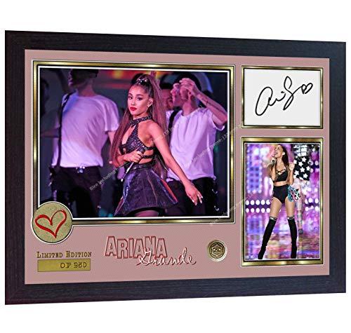 (S&E DESING Ariana Grande pop R&B Music Signed Autograph Photo Print Framed)