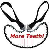 Hand Saw - Pocket Chainsaw Blade - Hand Chain Saw with More Cutting Teeth. Essential for- Survival Gear, Bug Out Bag, Camping Gear, Survival Kit, Camping Equipment, Hiking Gear, Emergency Kit, Disaster Kit - Handy at Home as Pruning Saw or Tree Saw