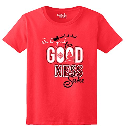 Funny Shirts For Womens Short Sleeve Shirts For Goodness Sake Christmass Funnys