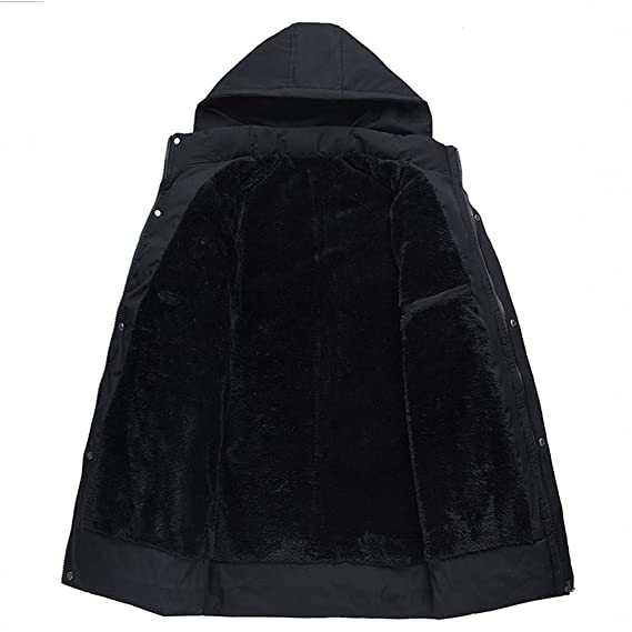 Amazon.com: Clearance Mens Fashion Trend Coat with Front Pocket Autumn Winter Business Long Sleeves Down Jacket with Hood: Clothing
