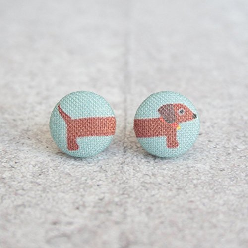 Dachshund Fabric Button ()
