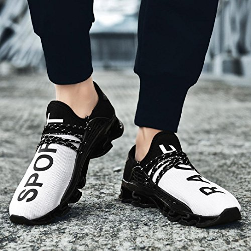 Occasionnels Sport Mode Chaussures Bovake Baskets Blanc de Homme Course w4q04gCT