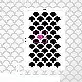 Fish Scale Wall Stencil - Reusable Wall Stencils