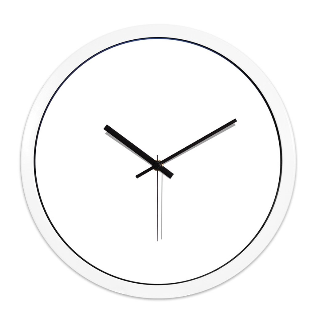 LINGZHIGAN ミュートシンプルクラシックウォールクリエイティブクリエイティブリビングルームベッドルームホーム電子モダンクォーツ時計 ( 色 : 白 , サイズ さいず : 14 inches ) B07BTWZK91 14 inches|白 白 14 inches