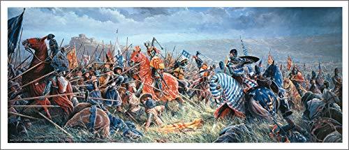 Mark Churms Fine Art Prints: Battle of BANNOCKBURN (Revised) Scotland (1314) Signed Paper Print