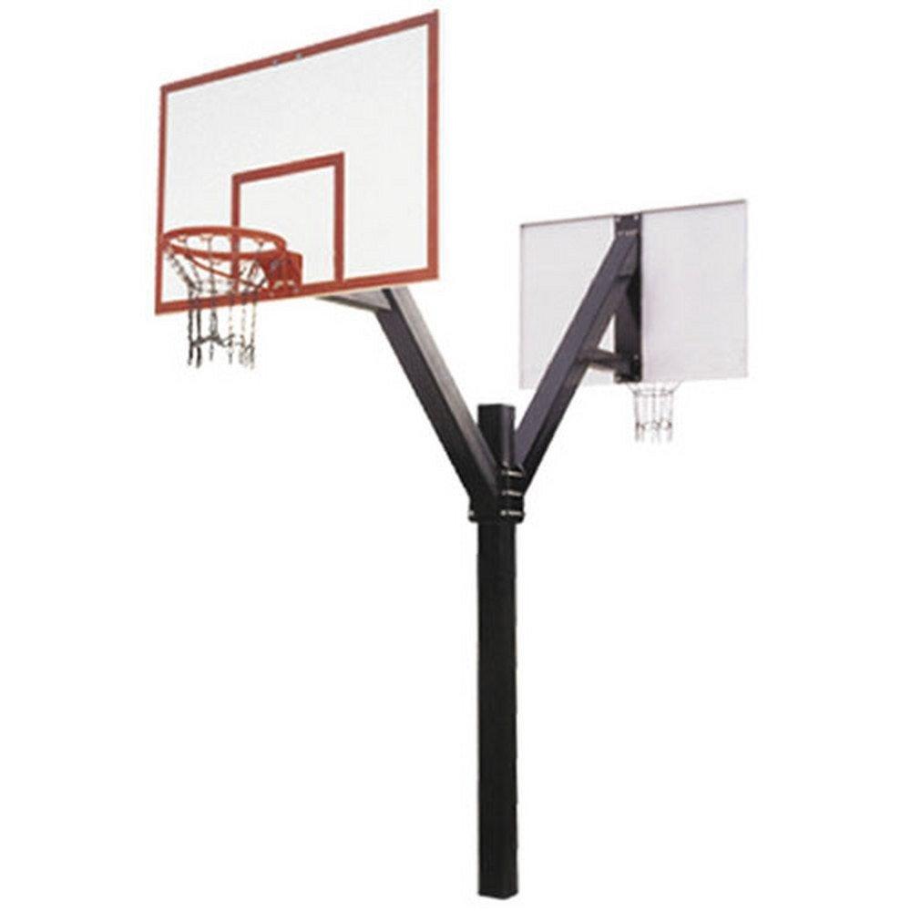 最初チームLegend Dynastyデュアルin-groundバスケットボールフープと72インチファイバーグラスBackboard B000A7S9AG