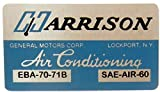 1971 OLDSMOBILE AIR CONDITIONING FIREWALL BOX ALUMINUM DECAL - LABEL STICKER - All Models