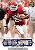 Adrian Peterson football card (Oklahoma Sooners Vikings) 2011 Upper Deck World Sports #89