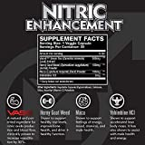 - 51aGfPAPt0L - Nitric Oxide Enhancement by Modern Man – Pump Enhancing Alpha Male Booster for Men – Yohimbine HCL, Horny Goat Weed & Maca Root | Increase Size, Strength & Stamina | Muscle Gain Supplement – 30 Pills