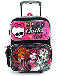 Rolling Backpack - Monster High - Brainy Chicks (16 Large School Bag)