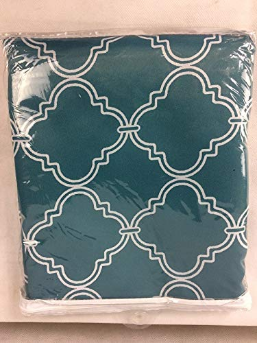 "Better Homes and Gardens Trellis Room Darkening Curtain Panel, 52"" x 63"", Teal from Better Homes & Gardens"