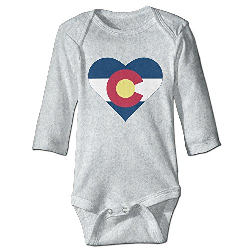 I Love Colorado Infant Long Sleeve Bodysuits Jumpsuit -