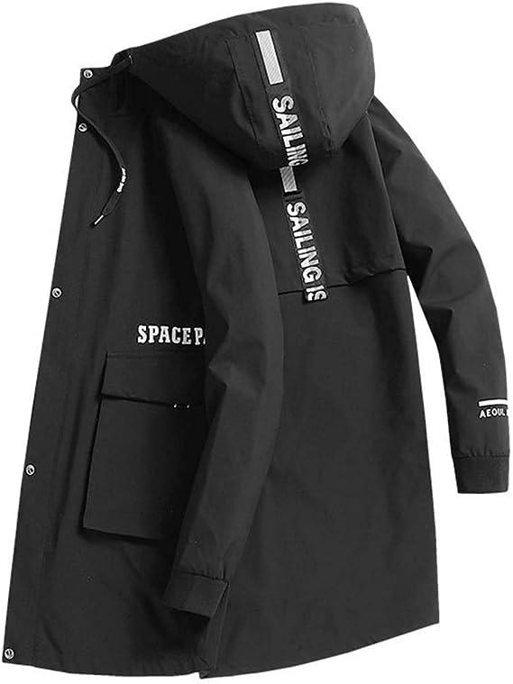 ロングコート メンズ トレンチコート スプリングコート ジャケット 春秋 カジュアル アウター フード付き 防風 防寒 おしゃれ ブルゾン ジャンパー おおきいサイズ M~8XL