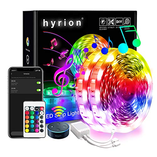 WiFi Smart Led Strip Lights hyrion RGB Led Light Strips, 16 Million Colors App Controlled Sync to Music Led Lights for Bedroom