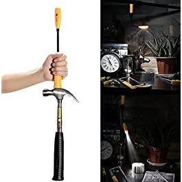 Go-to Work Light, Magnetic Base& Flexible Gooseneck, Handheld Flashlight & Flood Light, USB Rechargeable Battery Powered, 400 Lumens LED