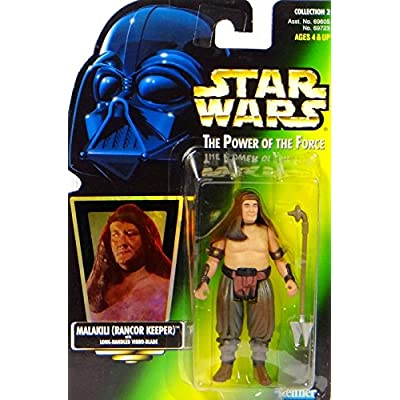 Star Wars, The Power of the Force Green Card, Malakili (Rancor Keeper) Action Figure, 3.75 Inches: Toys & Games