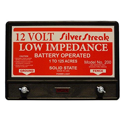 Silver Streak Fence Charger Model 200 12 Volt 2 Joule 20 Mile/Free Lightning Diverter