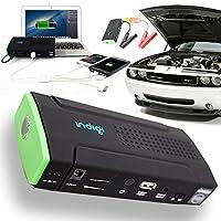 Indigi 12800mAh Heavy Duty Mobile Emergency Car Vehicle Jump Starter Gasoline or Diesel Car Smartphone Power Bank