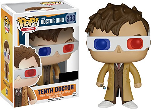 Funko Pop Television #233 Dr Who Tenth Doctor with 3D Glasses (Hot Topic Exclusive) - Exclusive Glass