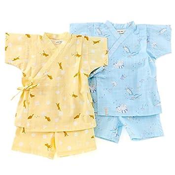 ac2545a92a50c Amazon.co.jp: Lily ivory (リリー アイボリー ) 甚平スーツ (80~130cm ...