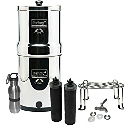 Berkey Water Filter Bundle Stainless Steel Spigot, Stand Bottle, 2.0 Gallon Big Special