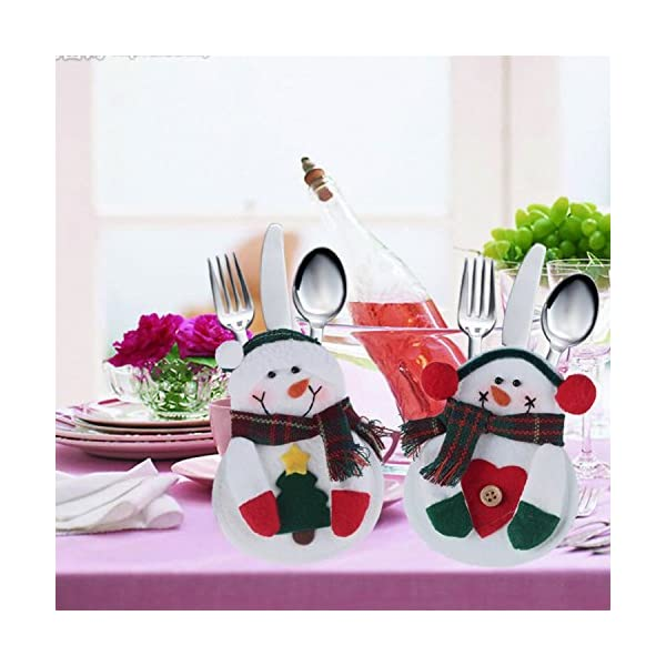 Portaposate Costume da Babbo Natale, Natale, decorazione per tavolo (8pcs) 7 spesavip