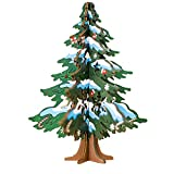 Quaanti Desktop Ornaments Christmas Tree Decorations for Home Ornaments Wooden DIY Christmas Gifts Merry Christmas New Year Party Decor Gifts (Green)
