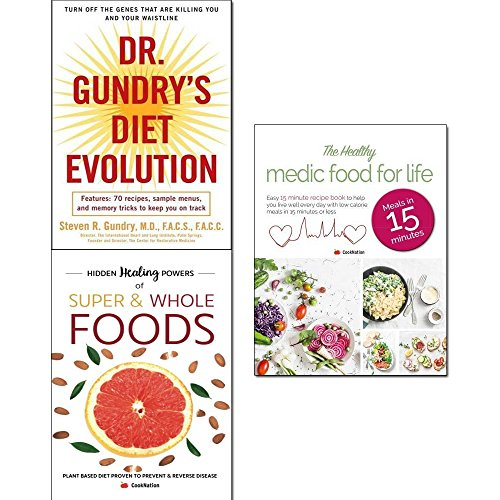 - Dr. gundry's diet evolution, hidden healing powers of super & whole foods and healthy medic food for life 3 books collection set