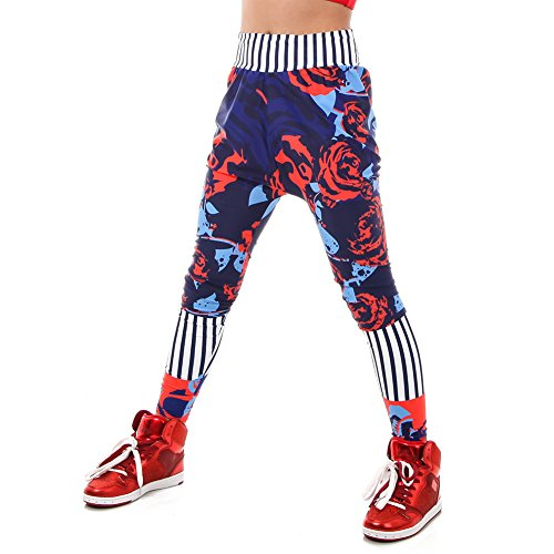 Alexandra Collection Youth Urban Vibe Hip Hop Dance Costume Harem Pants Navy 10