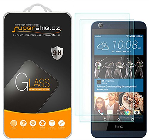 [2-Pack] Supershieldz for HTC Desire 626 626s Tempered Glass Screen Protector, Anti-Scratch, Anti-Fingerprint, Bubble Free, Lifetime Replacement Warranty