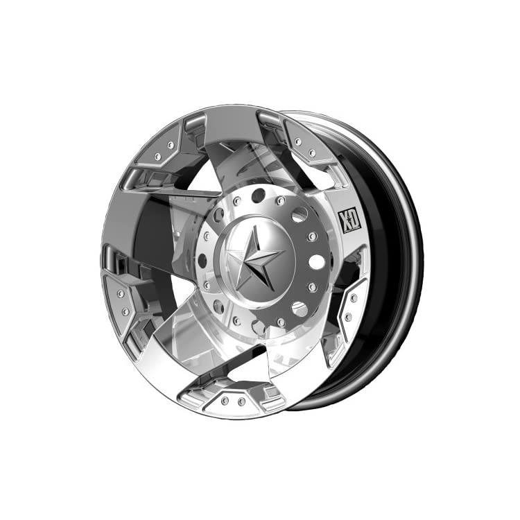 XD Series by KMC Wheels XD775 Rockstar Triple Chrome Plated Dually Outer Wheel (16×6″/8x170mm, -134mm offset)