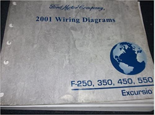 2001 ford f-250 250 f350 f 450 550 excursion truck wiring diagrams shop  manual: ford: amazon com: books