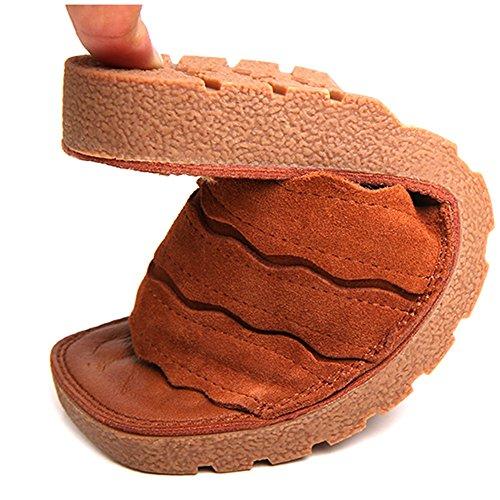 Cuero de Simples Planos Zapatos de Zapatillas Z Verano Versátiles Dragón Ocasionales y AJZGF Medio vpwTxq