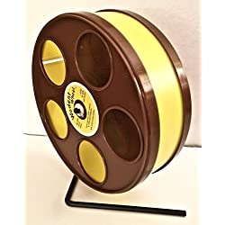"""Wodent Wheels Sugar Glider/Hamster 8"""" Diameter Exercise Wheel Brown with Yellow Track"""