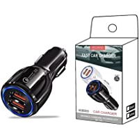 Fast Car Charger Adapter 36W Dual USB Quick Charge QC 3.0 and PD Fast Charging for iPhone 12 mini/12/12 Pro/SE/11/XR/X…