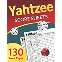 Yahtzee Score Sheets: Large Scorekeeping Book