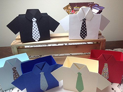 6 Shirt and Tie Party Favor Treat Boxes for Father's Day or Party