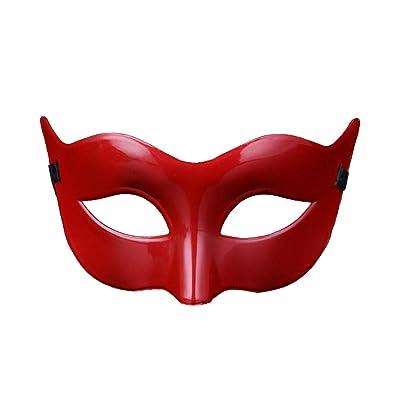 Gysad Plástico Mascara halloween Diseño moderno Antifaz carnaval Fiesta de baile unisex Antifaz carnaval size 9.5 * 18cm (Rojo): Ropa y accesorios