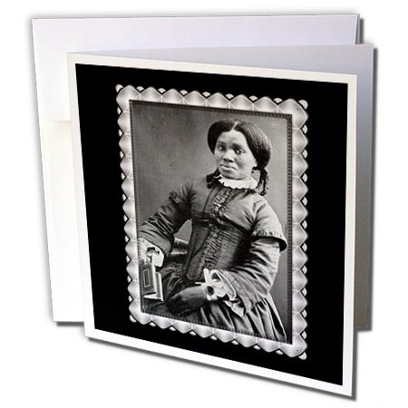 [BLN Vintage Photographs of History and People 1800s - 1900s - African American Woman c. 1850 Black and White Photograph - Greeting Cards-6 Greeting Cards with envelopes (gc_160749_1)] (African American Stationery)