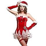 Esquki Women Sexy Christmas Costume Miss Santa Outfit (Set1),Free Size