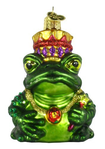 (Old World Christmas Ornaments: Frog King Glass Blown Ornaments for Christmas Tree)