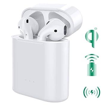 MoKo Funda de Cargador de Reemplazo de Carga Inalámbrica Compatible con Apple AirPods 1 & 2, Tapa del Receptor Inalámbrico de Tamaño Original con ...