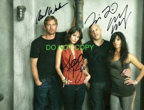 fast and furious signed picture - 1