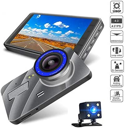 """4"""" ダッシュライブチャット、ナイトビジョン、Gセンサー、駐車場モニター、ループ・レコーディング、170を使用して車のフルHD 1080Pダッシュカメラ°ワイドアングル"""