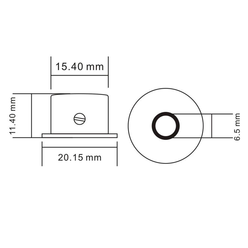 Sharplace 4 Unidades Potenci/ómetro con Bot/ón de Control de Volumen para Guitarra El/éctrica